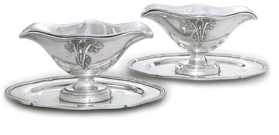 A PAIR OF FRENCH SILVER PLATED