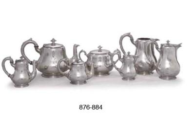 FIVE DANISH SILVER-PLATED TEA