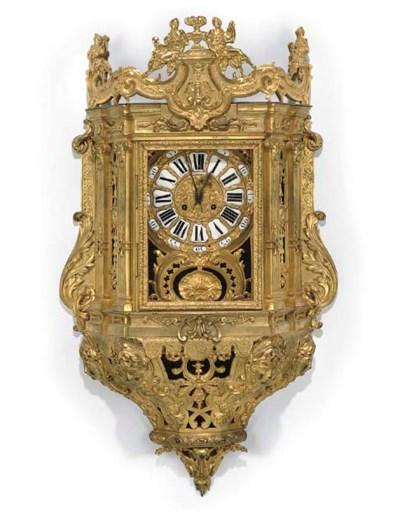 A FRENCH ORMOLU BRACKET CLOCK