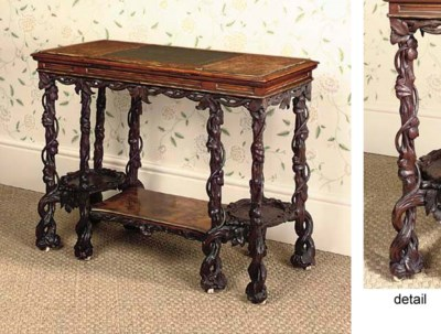AN EARLY VICTORIAN, WALNUT AND