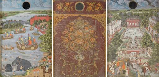 TWO MUGHAL DOUBLE SIDED MINIAT