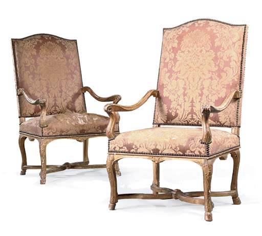 A PAIR OF REGENCE GILTWOOD FAU