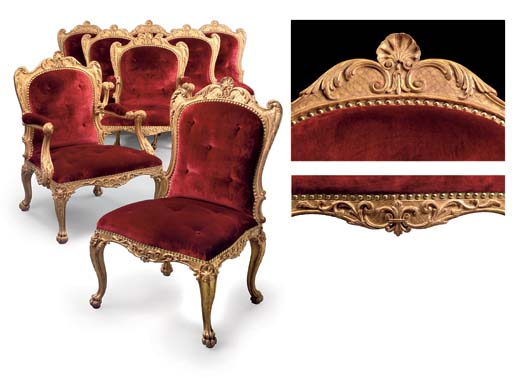 A SUITE OF GEORGE III GILTWOOD