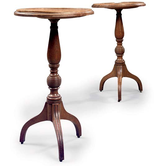 A PAIR OF REGENCY OAK CIRCULAR