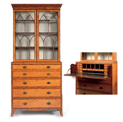 A GEORGE III SATINWOOD AND SIL