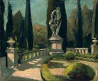 The Terrace at Mrs Alice Keppel's Villa d'Ombrellino near Florence