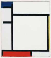 Composition with Blue, Yellow, Red and Grey