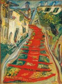 L'escalier rouge à Cagnes