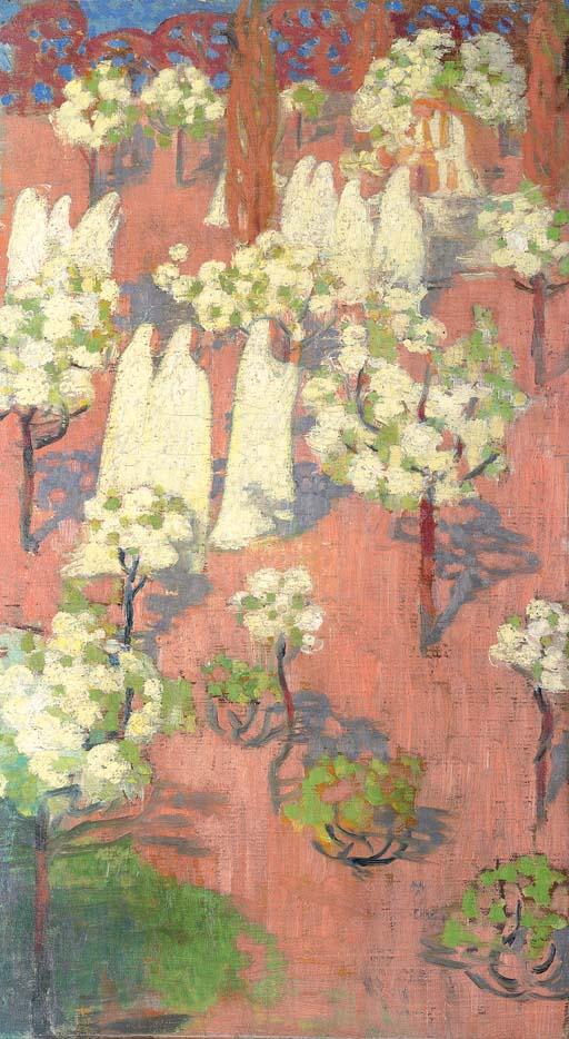 Virginal printemps (pommiers en fleurs)