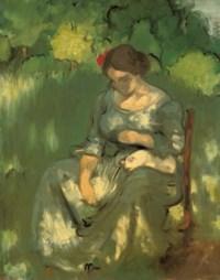 Femme avec un chat