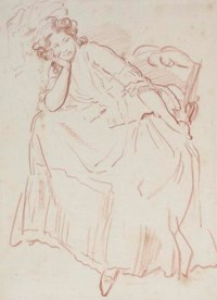 A seated woman looking to the right, perhaps Marianne Framery