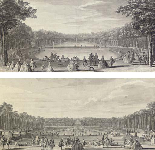 L'Ile royale et le Bassin du Miroir; and Vue du Bassin de Latone prise du bord de la terrasse