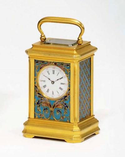A French miniature gilt-brass,