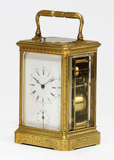 A French engraved brass grande
