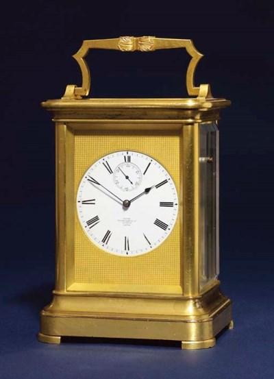 A Victorian gilt-brass eight d