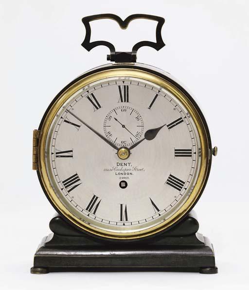 A Victorian patinated brass ei