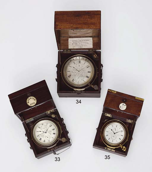 A Victorian small mahogany and brass-mounted two-day Royal Observatory (Greenwich) marine chronometer
