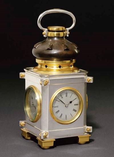 Lantern A French silvered, gil