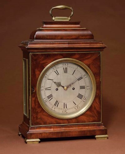 A George II mahogany and brass