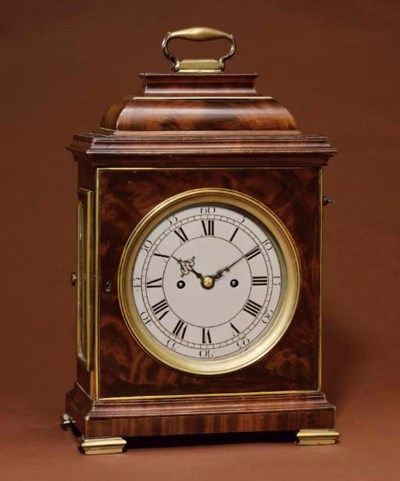 A George II mahogany and brass