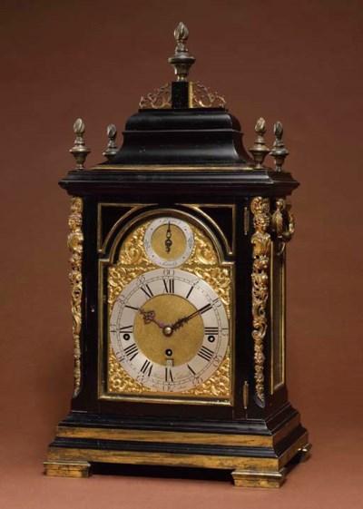 A George III ebonised and gilt