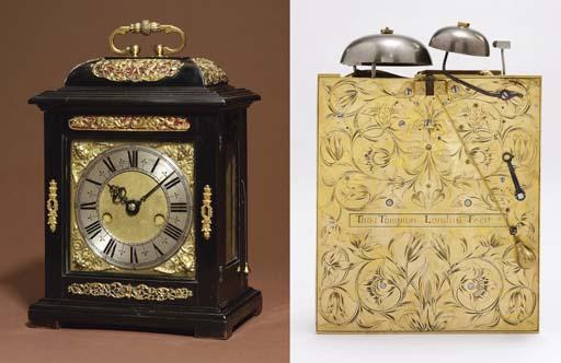 A Charles II ebony and gilt-br