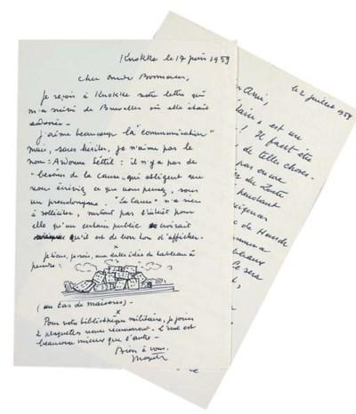 MAGRITTE, René (1898-1967). Tw