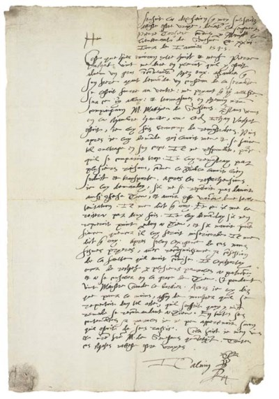CALVIN, Jean (1509-1564). Auto