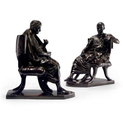 A PAIR OF BRONZE FIGURES OF PO