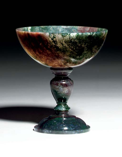 A CARVED HARDSTONE TAZZA