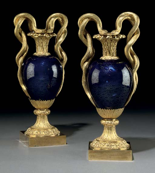 A PAIR OF RUSSIAN ORMOLU AND B