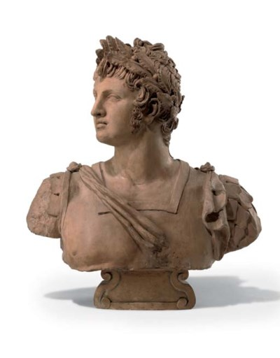 A TERRACOTTA BUST OF THE EMPER