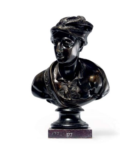 A BRONZE BUST OF WILLIAM CONGR