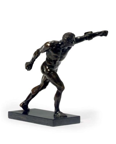 A BRONZE FIGURE OF THE BORGHES