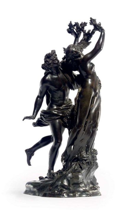 A BRONZE GROUP OF APOLLO AND D