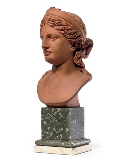 A TERRACOTTA BUST OF THE LUDOV