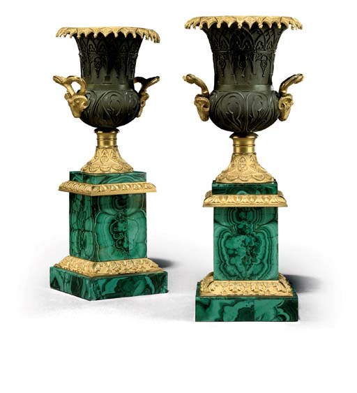 A PAIR OF RUSSIAN ORMOLU, PATI