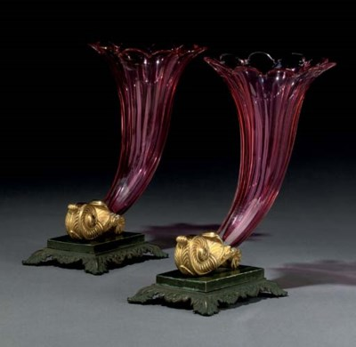 A PAIR OF RUSSIAN PATINATED BR