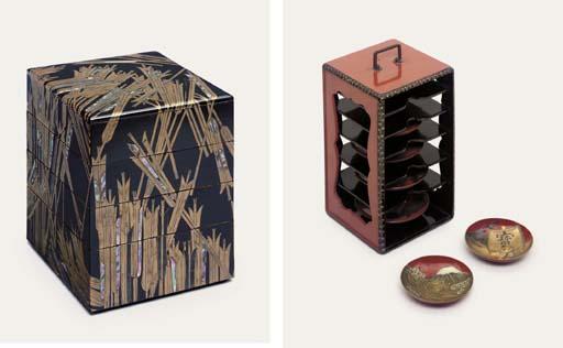 A SAGE-SAKAZUKIBAKO [CARRYING BOX FOR SAKE CUPS]