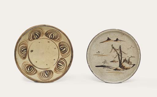 TWO SETO DISHES