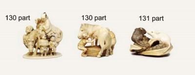 Five ivory netsuke