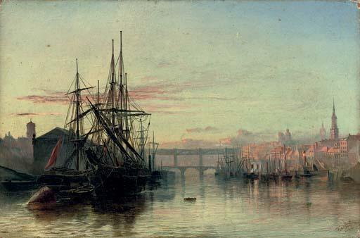 The River Tyne, Newcastle: Sunset