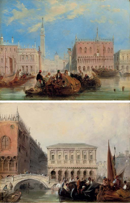 The Piazzetta; and The Bridge of Sighs, Venice