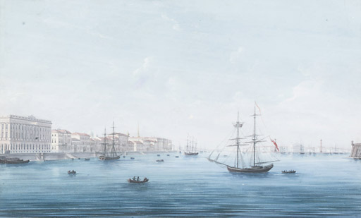 A VIEW OF THE NEVA RIVER, ST P