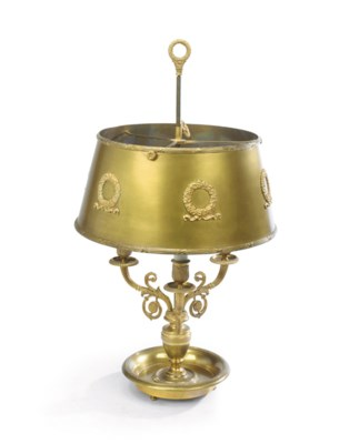 A FRENCH ORMOLU AND TOLE THREE