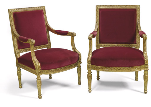 A PAIR OF FRENCH GILTWOOD OPEN