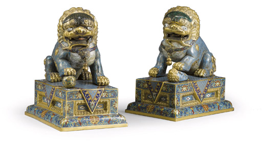 A PAIR OF CHINESE GILT-METAL A