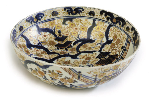 A JAPANESE IMARI BLUE, RED AND