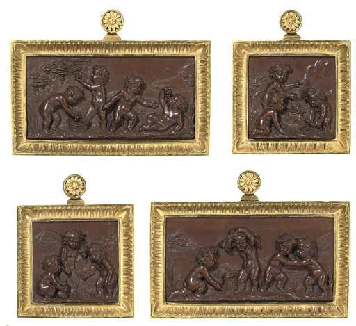 A SET OF FOUR ORMOLU-MOUNTED B