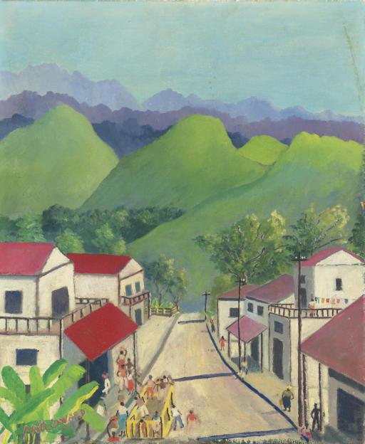 Village in the hills, Jamaica
